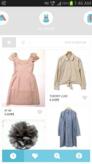 LINE MALLの画面。女性向けファッション関連の商品が目立つ