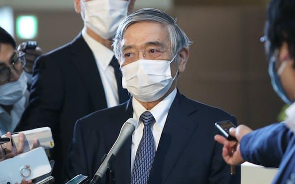 日銀の黒田東彦総裁は菅政権下でも2%の物価上昇率目標を変えていない