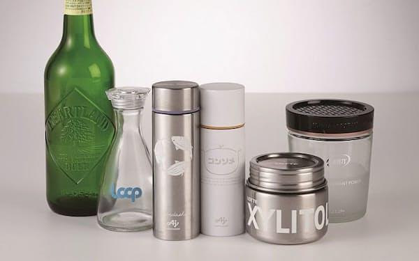 メーカーが繰り返し使える容器で商品を提供する
