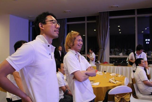 サンアスタリスク創業者の平井誠人さん(左)と現CEOの小林泰平さん