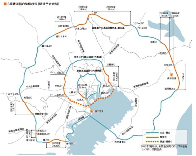 2013年12月26日に国土交通省と中日本高速道路会社は、圏央道の相模原愛川IC-高尾山IC間の開通時期を取材時の「2014年3月末」から同年6月に変更すると発表した