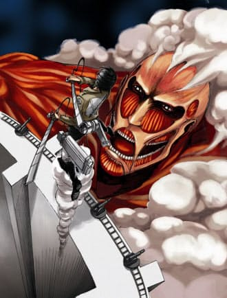 「別冊少年マガジン」は「進撃の巨人」(画面)や「惡の華」などヒット作を多数連載している。最新号が紙と電子で同時発売される。(C)諫山創・講談社