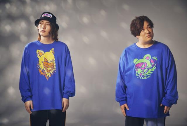コラボシングル『化かしHOUR NIGHT』をリリースしたビッケブランカ(左)と岡崎体育(右)。ゲームをモチーフとした楽曲だが、2人の出会いもゲームだったという