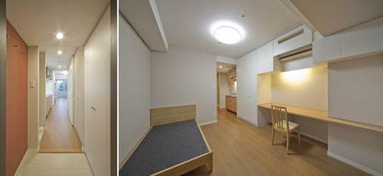 新看護師寮の従来インテリアの居室(写真提供:尾田氏)