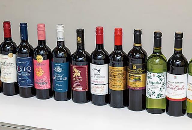 今回調べたコンビニワインは12本
