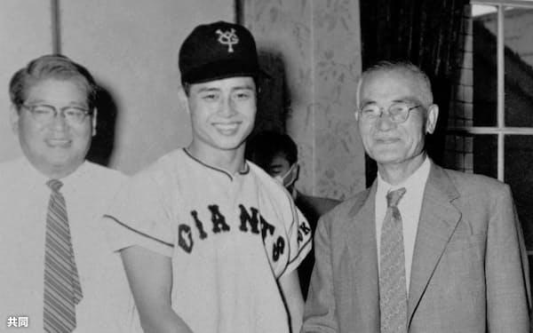 1958年秋、巨人と契約=共同