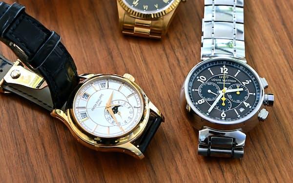 堤浩幸さんの時計コレクション