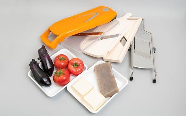 5種類のスライサーを、柔らかい食材で検証