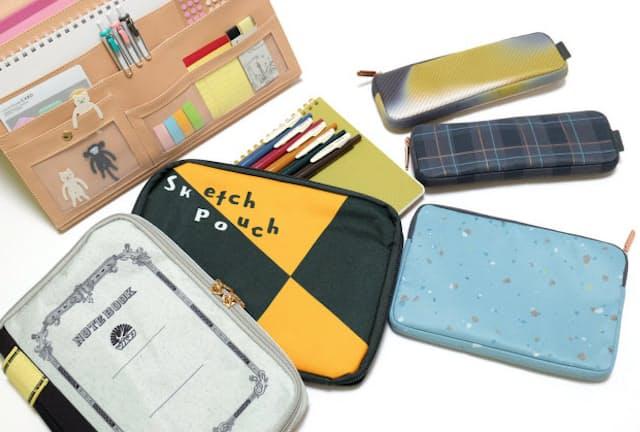 テレワークに人気の文具携帯用ケースやポーチ