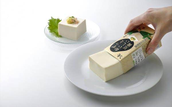 常温で120日間の保存ができる「ずっとおいしい豆腐」。実勢価格は150~170円台(税込み)