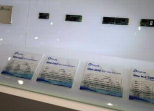 「M.2」に対応したSSDの新モデルも展示した