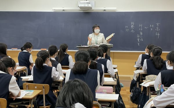 齊藤校長による道徳の授業