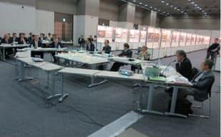 2012年10月16日に開かれた一次審査の審査会場(写真:日本スポーツ振興センター)