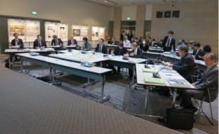 2012年11月7日に開かれた二次審査の審査会場(写真:日本スポーツ振興センター)