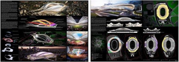 ザハ・ハディド・アーキテクツの提案内容(資料:日本スポーツ振興センター)