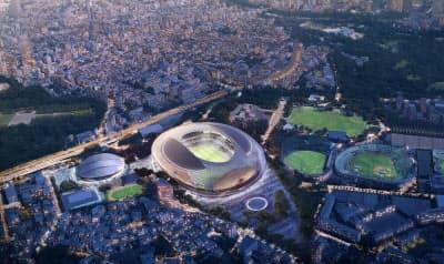 国際デザイン・コンクールで優秀賞となったコックス・アーキテクチャーの外観パース(資料:日本スポーツ振興センター)