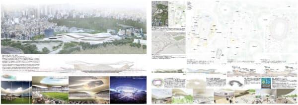 SANAA+日建設計の提案内容(資料:日本スポーツ振興センター)