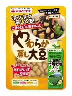 「やわらか蒸し大豆」 (120グラム、132円。マルヤナギ 問0120-15-1456)
