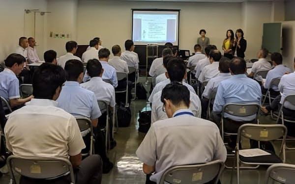 小田急電鉄は駅や運転職場の管理者層に「妊活を知る」をテーマに研修を実施した