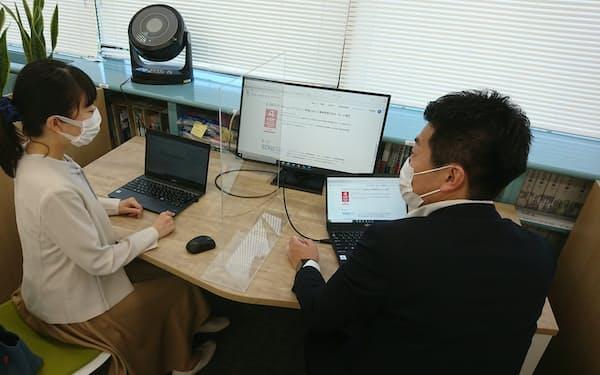 ベネッセコーポレーションがオフィスを刷新し、新たに設けたペアワークシート