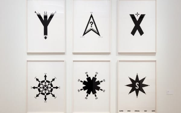 佐藤可士和《6ICONS》(1989年、各145.6×103センチメートル、シルクスクリーン・紙)