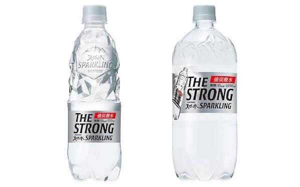 2021年6月29日に発売した「THE STRONG 天然水スパークリング」 (510ミリリットル、1050ミリリットル)