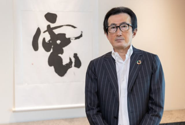 セールスフォース・ドットコム日本法人の小出伸一会長兼社長(写真:吉村永)