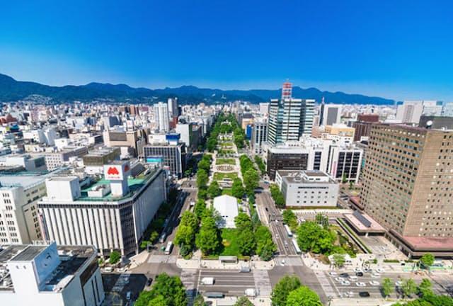 マラソンのスタート地点とフィニッシュ地点が設置される、札幌の大通公園(写真=123RF)