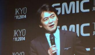 GMIC東京で挨拶するGWC東京の夏野剛代表