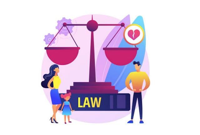 米国では離婚に関わる課題をAIなどで解消するサービスが増えている(イラストはイメージ=PIXTA)