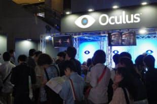 Oculus VRのブースにはたちまち行列が。ブースの場所は6-N3