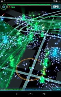 米Googleが提供中の位置情報を利用したスマートフォン向けゲーム「Ingress(イングレス)」