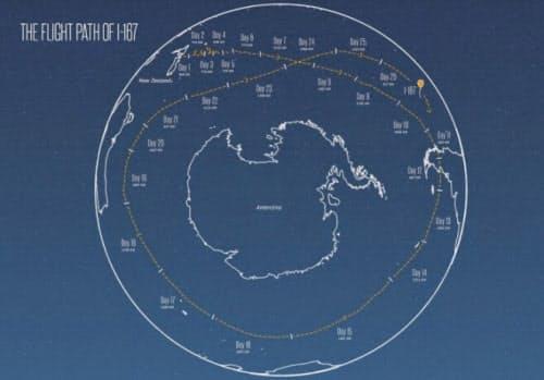 図3 Project Loonの気球が地球を周回した図