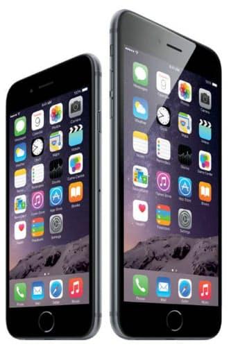 アップルの「iPhone6」(左)と「同6プラス」