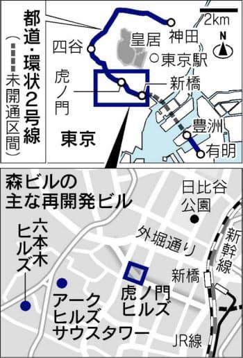環状2号線が全面開通すれば東京五輪が開かれる湾岸地区や羽田空港へのアクセスが便利に