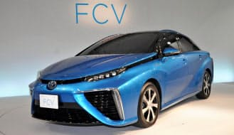トヨタ自動車が2014年12月15日に発売する、燃料電池車(FCV)「MIRAI(ミライ)」