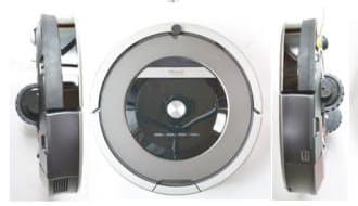 iRobotが2014年3月に発売したRoomba 871の外観。価格は6万4800円(税込み)。エントリーモデルである「600シリーズ」「700シリーズ」との違いは、LED(発光ダイオード)ディスプレーが付き、時計表示や動作タイマーの設定などが可能なことだ