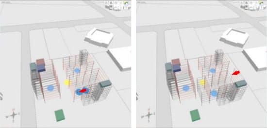 建物の中心点を動かすと、その棟全体が移動し、他の棟との整合性が自動的に保たれる(資料:flux.io)