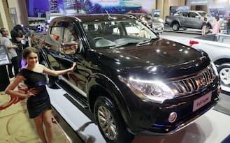 三菱自動車が2014年11月18日に発表した新型ピックアップトラック「トライトン」