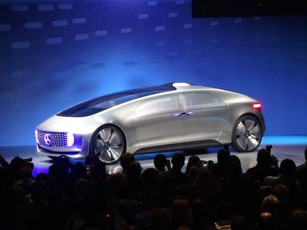 独ダイムラーがCESで発表した次世代の自動運転コンセプトカー(1月、米ラスベガス)