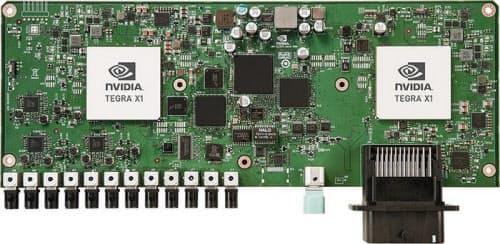自動運転開発プラットフォームの「Nvidia Drive PX」(出典: NVIDIA)