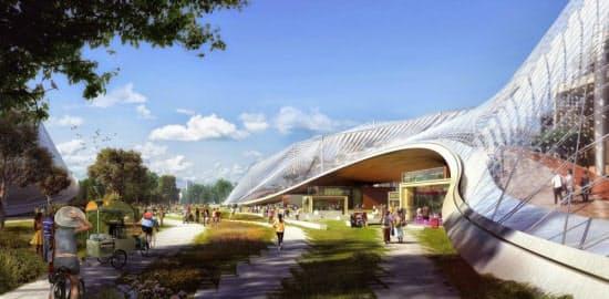 Googleが再開発を計画中の本社キャンパスのイメージ(出所:同社SNS「Google+」)
