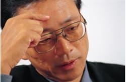 三菱電機 通信システム統括事業部 移動通信端末事業センター 技術第一部長(当時)の濱村正夫氏(写真:周慧)