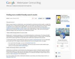 検索アルゴリズムの変更を伝える、Googleの公式ブログ