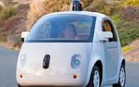 グーグルが有力部品メーカーの協力を得て試作した自動運転車のプロトタイプ(グーグル提供)