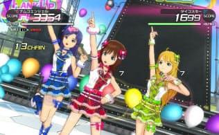 PS3用「アイドルマスター ワンフォーオール」のゲーム画面(公式サイトより)