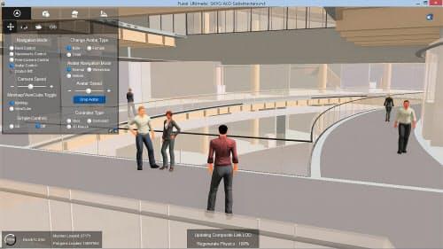 羽田空港のBIM化に向けたデモンストレーション画面(資料:レッドスタックジャパン)