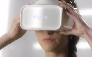 視線で画面や機器を操れる「FOVE」