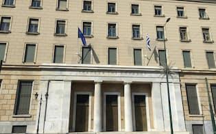 ギリシャ中央銀行(アテネ)=筆者撮影