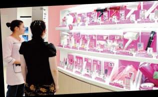 「上海クリュスタ」では数十種類の理美容家電を試用できる
